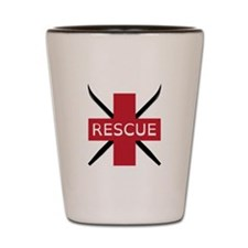 Ski Rescue Shot Glass