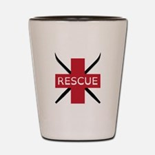 Ski Rescue Shot Glass