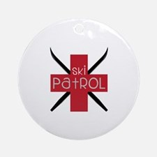 Ski Patrol Ornament (Round)