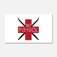 Ski Patrol Car Magnet 20 x 12