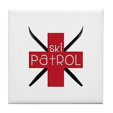Ski Patrol Tile Coaster