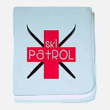 Ski Patrol baby blanket