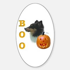 Sheltie(tri) Boo Oval Decal