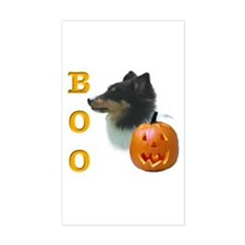 Sheltie(tri) Boo Rectangle Decal