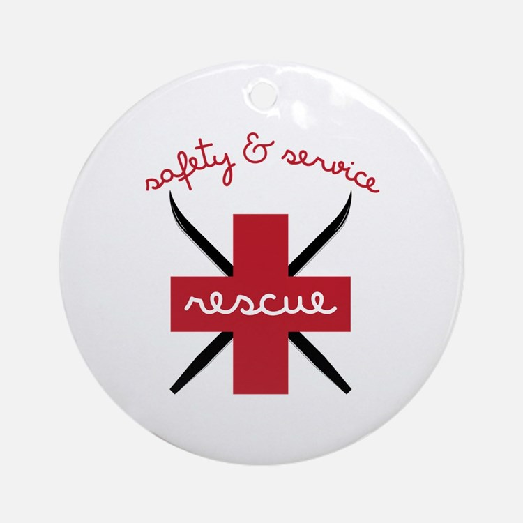 Safety & Service Ornament (Round)