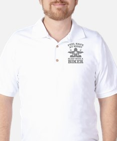 Feel Safe At Night Golf Shirt