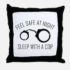 Feel Safe At Night Throw Pillow