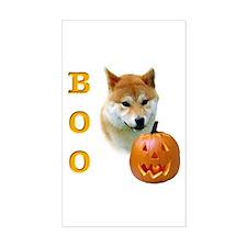 Shiba Boo Rectangle Decal