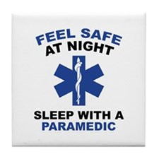 Feel Safe At Night Tile Coaster