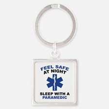 Feel Safe At Night Square Keychain