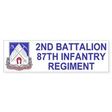 87th Infantry Regiment <BR>Bumper Sticker 3