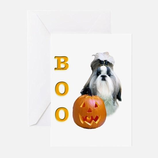Shih Tzu Boo Greeting Cards (Pk of 10)