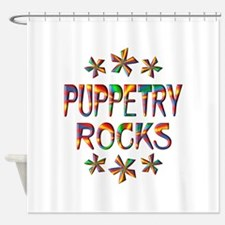Puppetry Rocks Shower Curtain