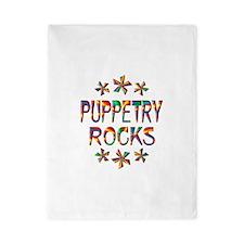 Puppetry Rocks Twin Duvet