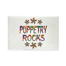 Puppetry Rocks Rectangle Magnet