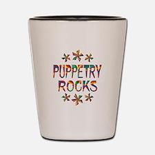 Puppetry Rocks Shot Glass