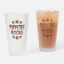 Puppetry Rocks Drinking Glass