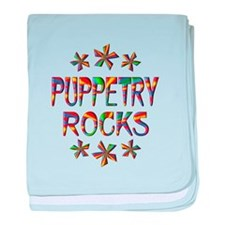 Puppetry Rocks baby blanket