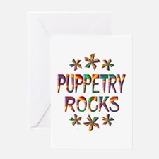 Puppetry Rocks Greeting Card