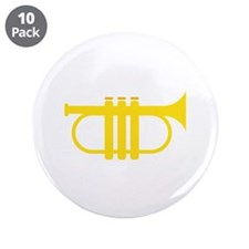 "Trumpet 3.5"" Button (10 pack)"