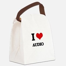I Love Audio Canvas Lunch Bag