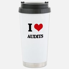I Love Audits Thermos Mug