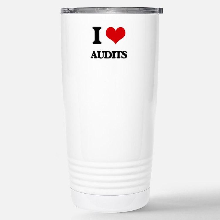 I Love Audits Travel Mug