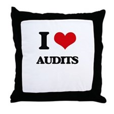 I Love Audits Throw Pillow