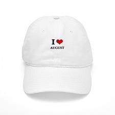 I Love August Baseball Cap