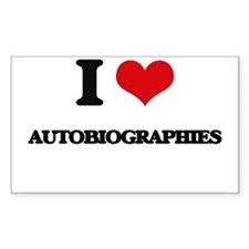 I Love Autobiographies Decal