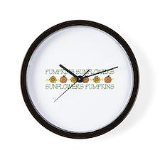 Sunflower Border Wall Clock