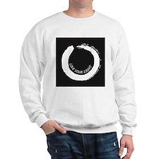 Live your Light Enso White Sweatshirt