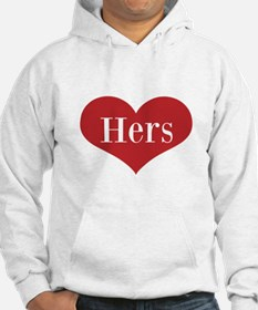 His and Hers red heart Hoodie