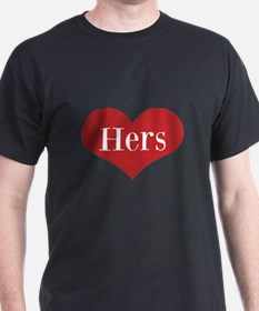 His And Hers Red Heart T-Shirt For Mr And Mrs