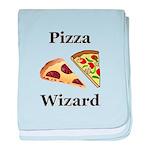 Pizza Wizard baby blanket