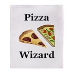 Pizza Wizard Throw Blanket