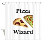 Pizza Wizard Shower Curtain