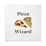 Pizza Wizard Queen Duvet