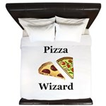 Pizza Wizard King Duvet