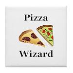 Pizza Wizard Tile Coaster
