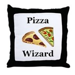 Pizza Wizard Throw Pillow