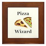 Pizza Wizard Framed Tile