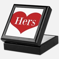 His and Hers red heart Keepsake Box