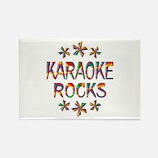 Karaoke Rocks Rectangle Magnet