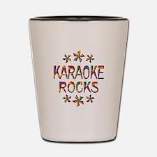 Karaoke Rocks Shot Glass