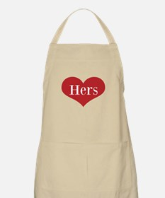 His And Hers Love Heart Aprons For Couple