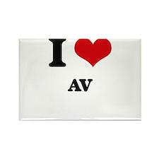 I Love Av Magnets