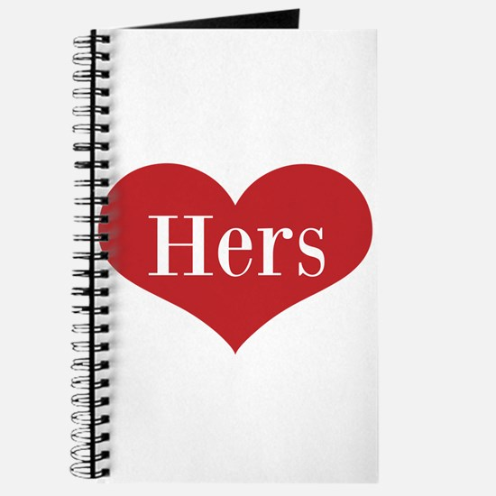 His and Hers red heart Journal