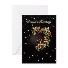 Stylish Christmas Female Card Greeting Cards