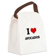 I Love Avocados Canvas Lunch Bag
